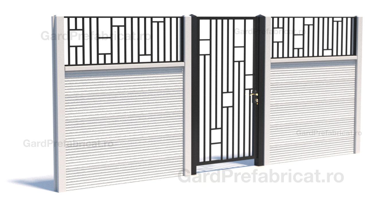Gard metalic + poarta metalica
