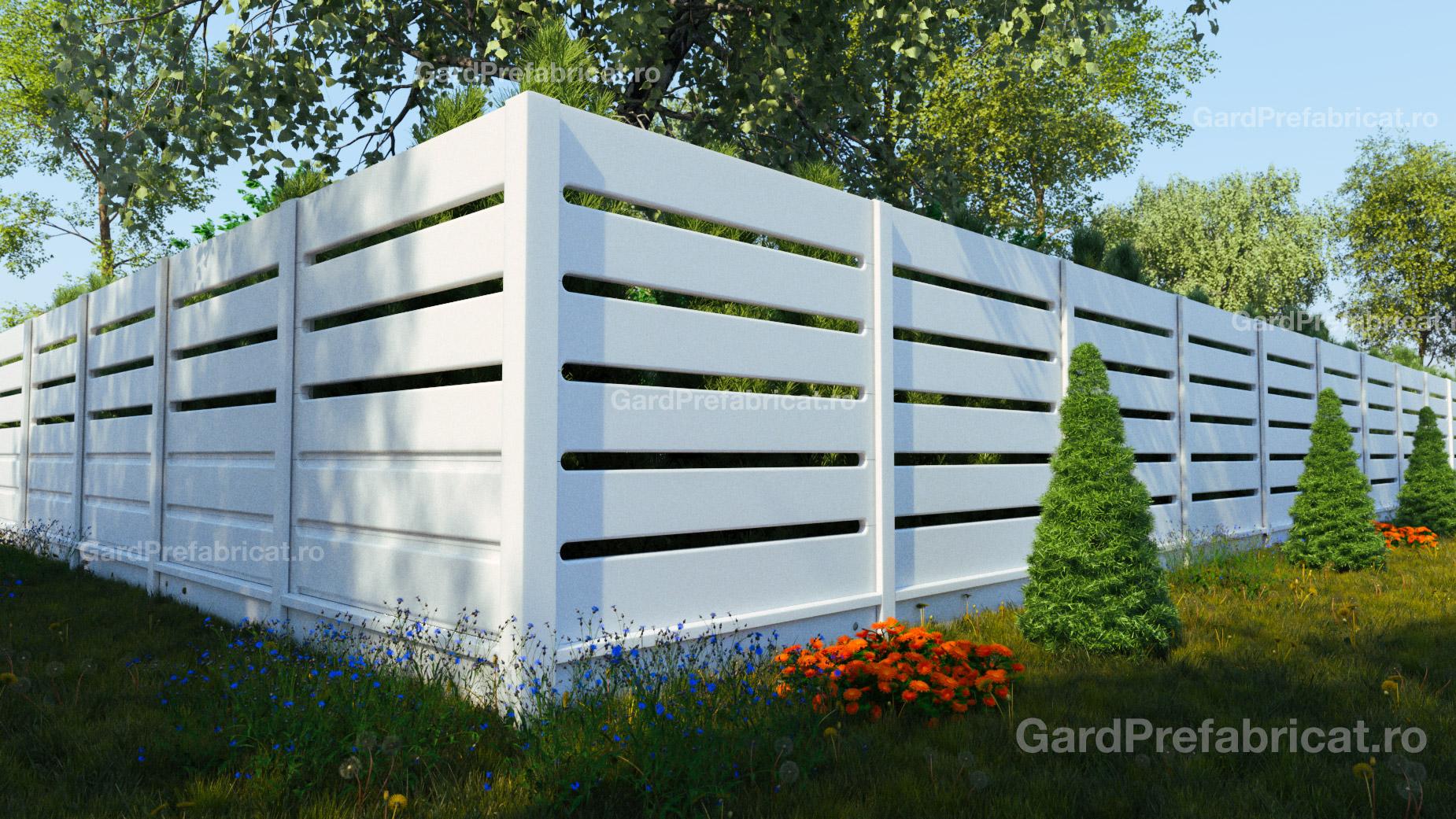 Gard prefabricat din marmura